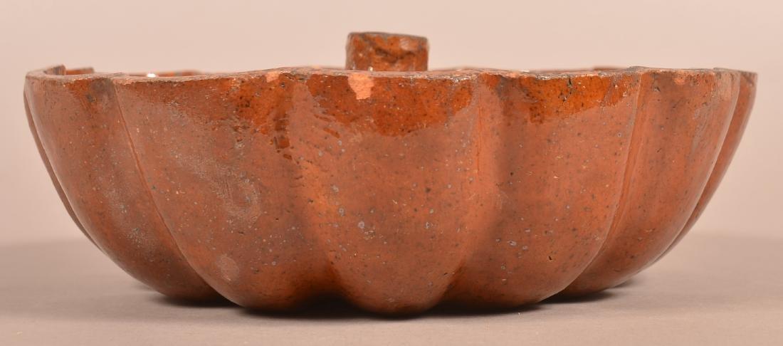 19th Century Glazed Redware Turks Mold. - 2