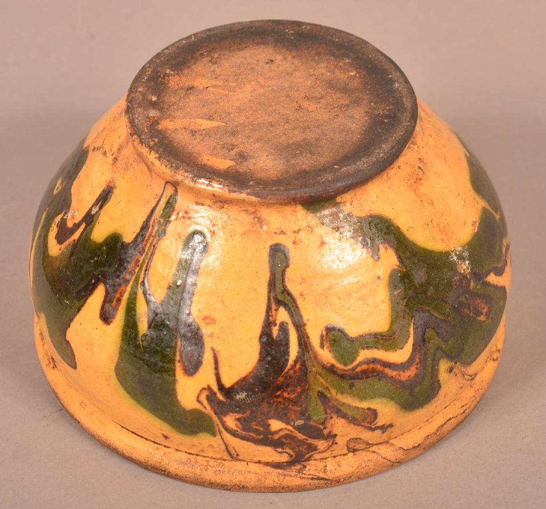 19th Century Drip Glazed Redware Covered Sugar Bowl. - 4