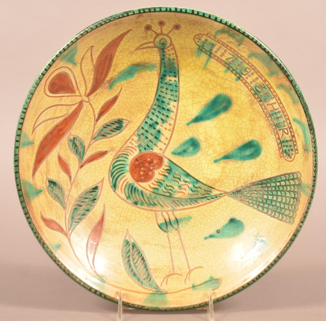 Metropolitan Museum Reproduction Redware Charger.