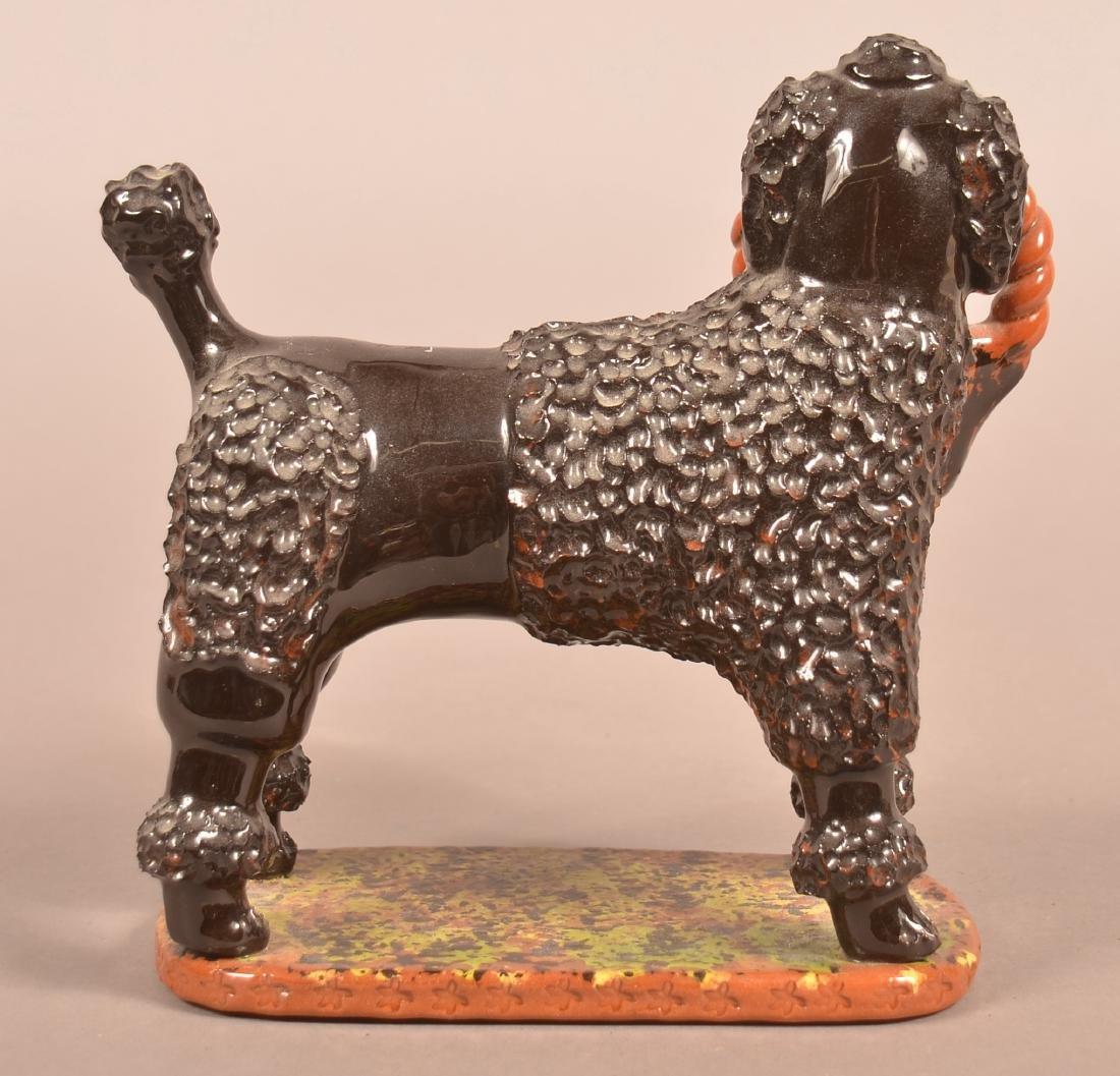 Breininger Pottery Glazed Redware Figure of a Dog. - 2