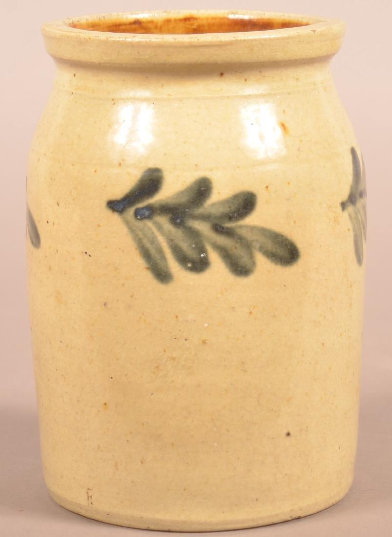 Unsigned 19th Century Stoneware Storage Jar. - 2