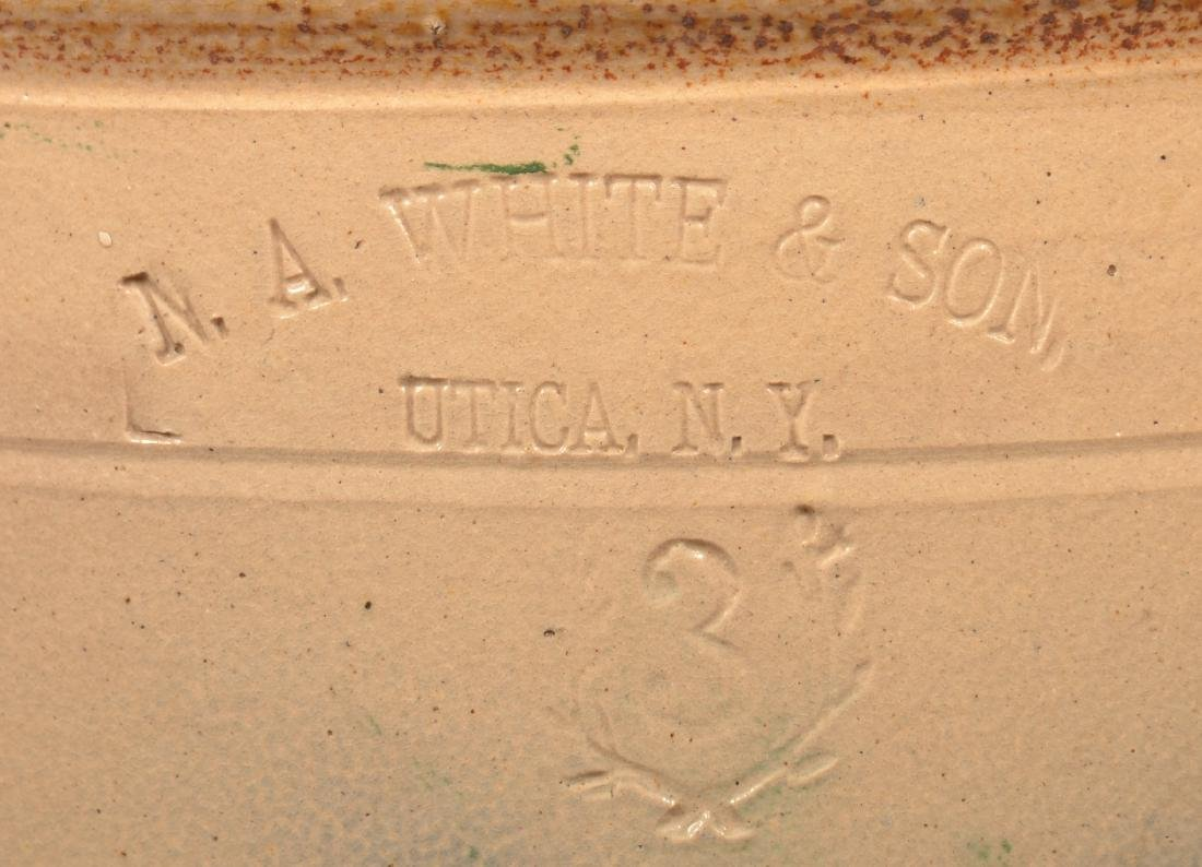 N.A. White & Son, Utica, N.Y. 3 Gallon Stoneware Crock. - 2