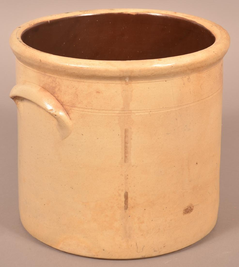 N.A. White & Son, Utica, N.Y. 3 Gallon Stoneware Crock. - 4