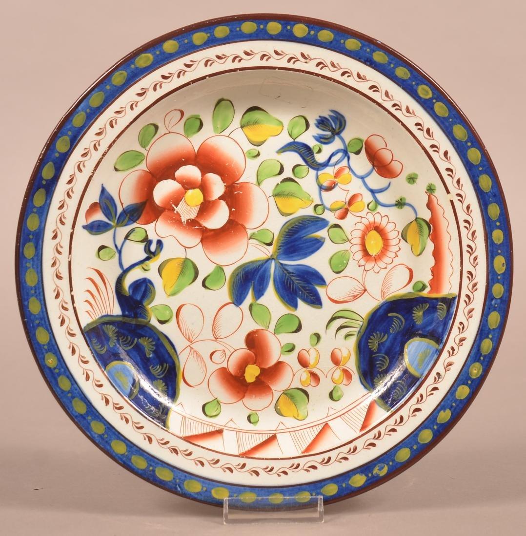 Gaudy Dutch Soft Paste China Single Rose Pattern Plate.