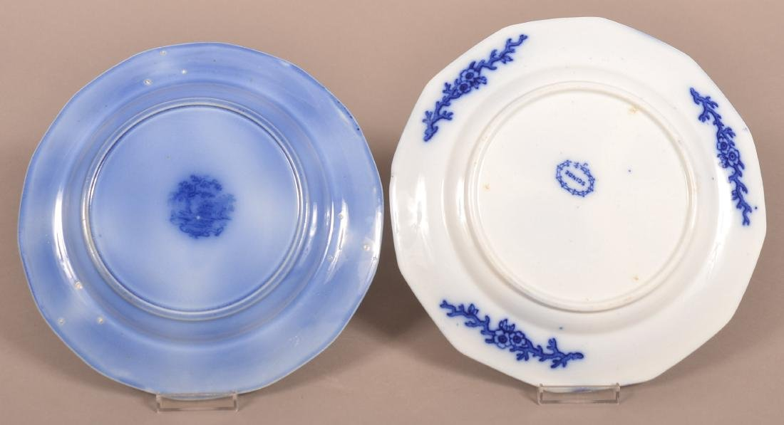 Two Various Flow Blue Ironstone China Plates. - 2