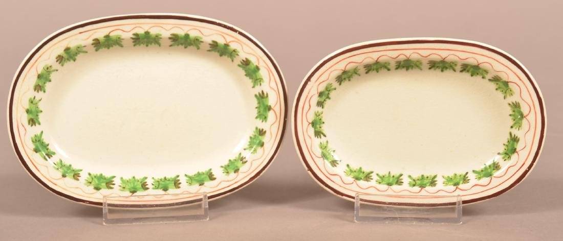 Two Pearlware Soft Paste China Miniature Platters.