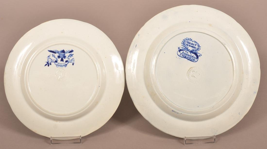 Two Staffordshire China Blue Transfer Plates. - 2