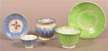 Three Various Pieces of Spatterware China.