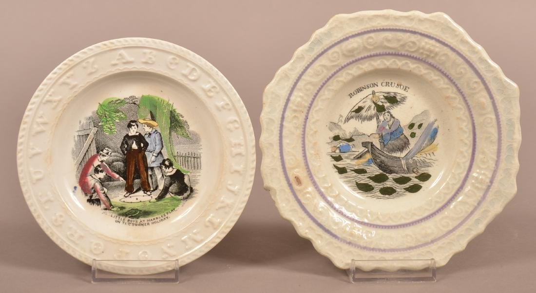 Two Staffordshire Transfer Decorated China Toddy
