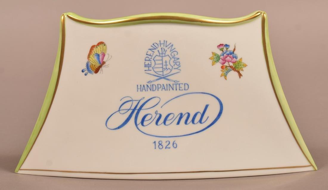 Herend Porcelain Dealer/Advertising Sign.