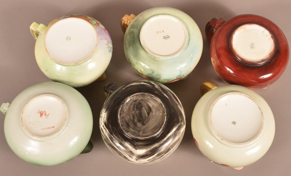Six Various Vintage Hand Painted China Lemonade Jugs. - 3