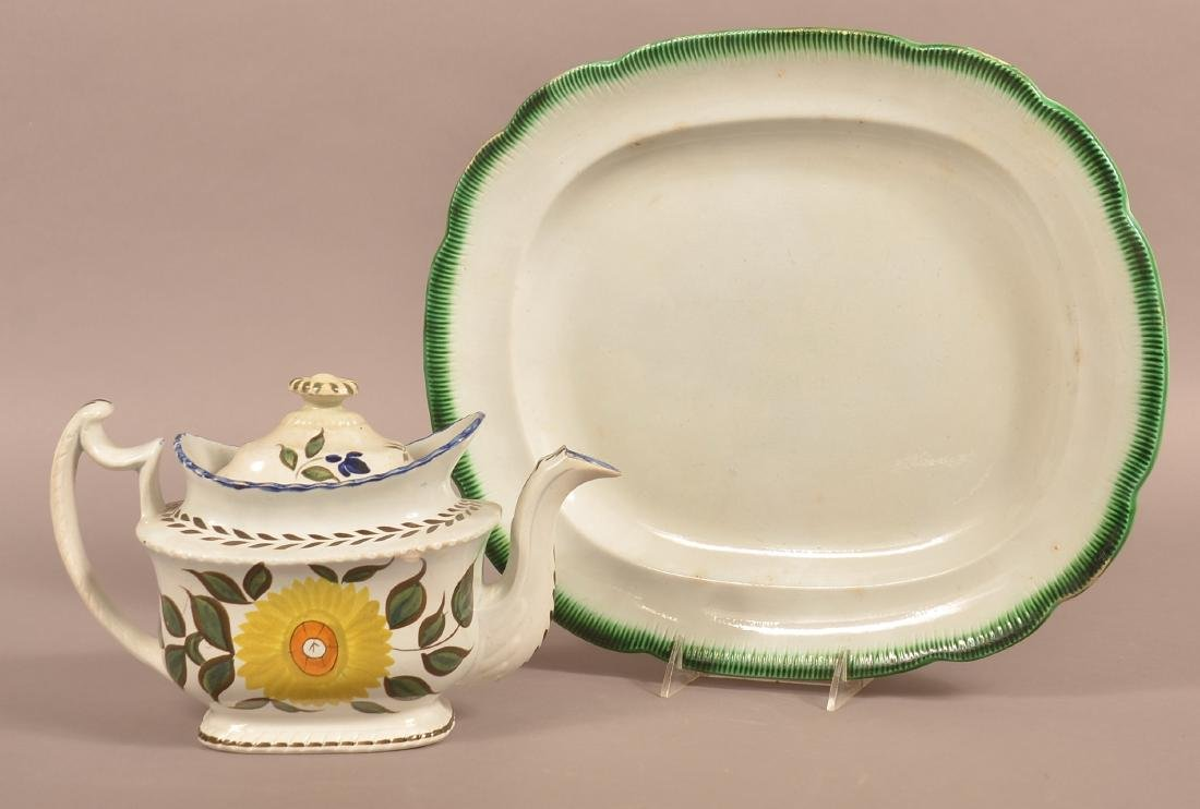 Two Pieces of Leeds Soft paste China.