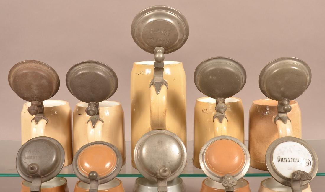 Ten Various German Antique/Vintage Pottery Steins. - 2