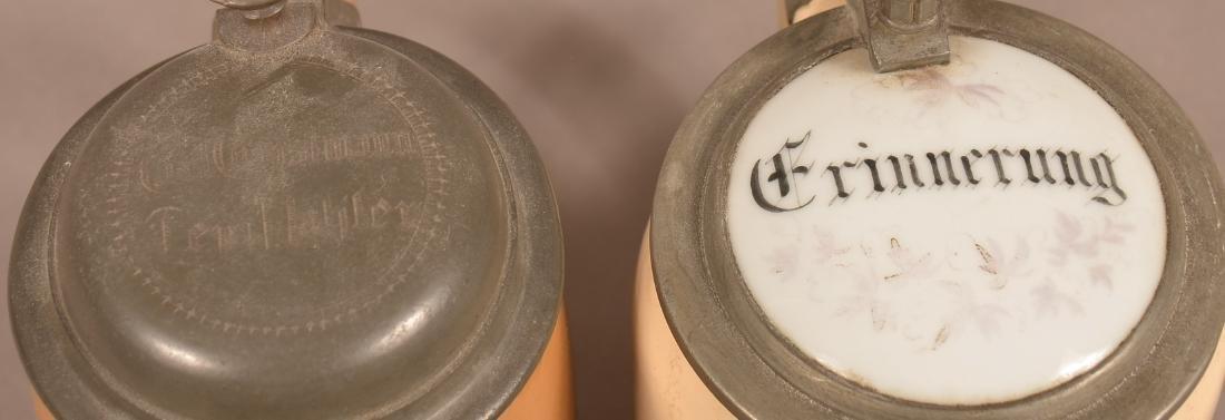 Ten Various German Antique/Vintage Pottery Steins. - 4