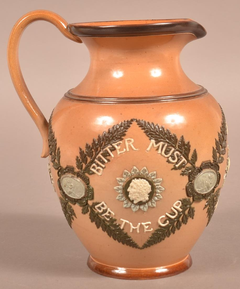 Late 19th Century Doulton Lambeth Pottery Motto
