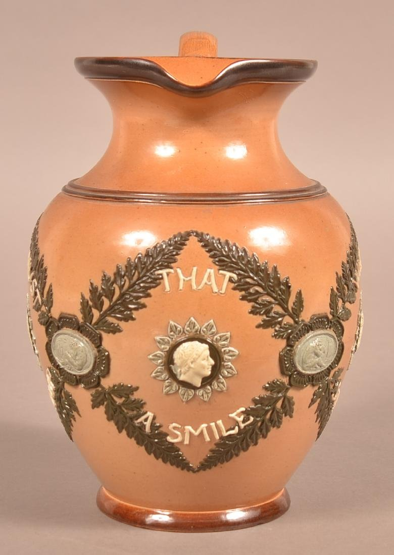 Late 19th Century Doulton Lambeth Pottery Motto - 2