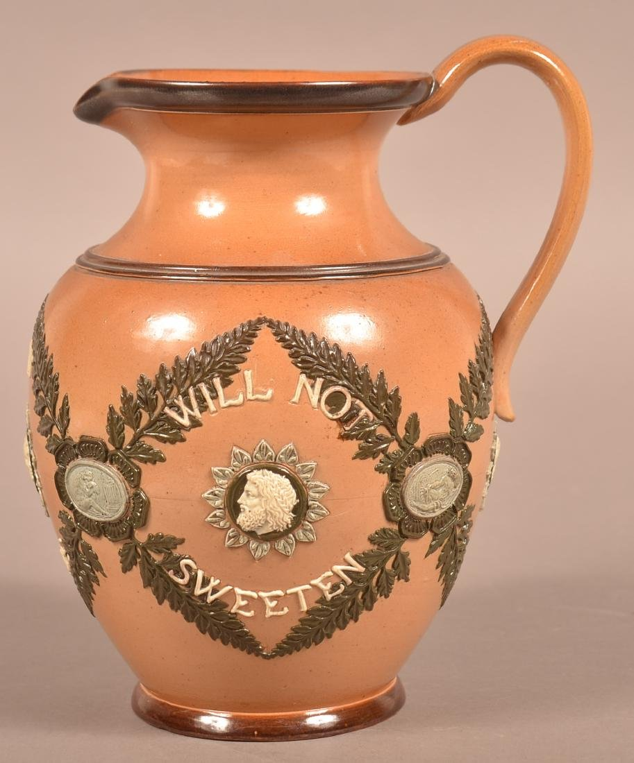 Late 19th Century Doulton Lambeth Pottery Motto - 3