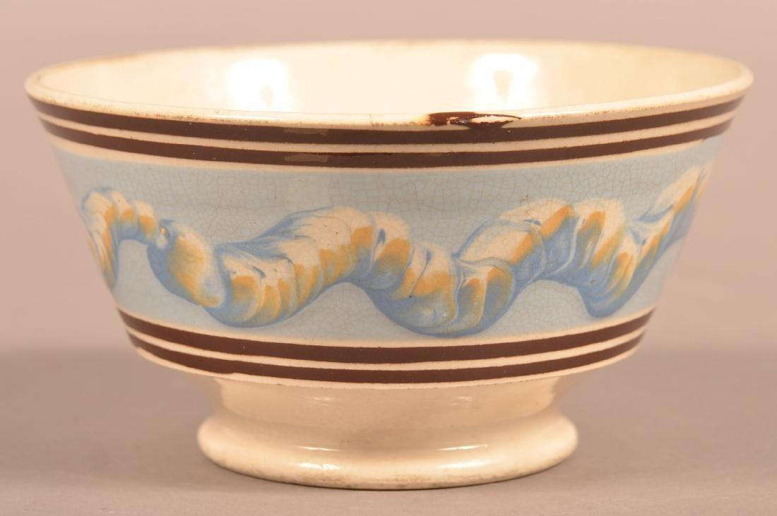 Mocha Earthworm Decorated China Bowl.
