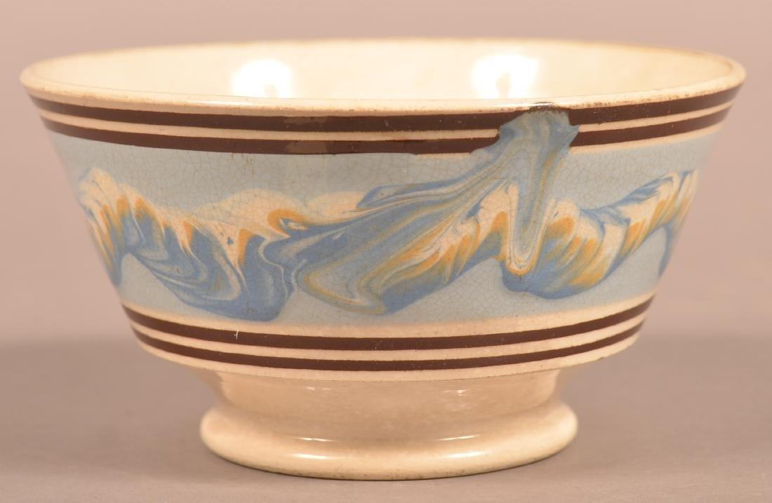 Mocha Earthworm Decorated China Bowl. - 2