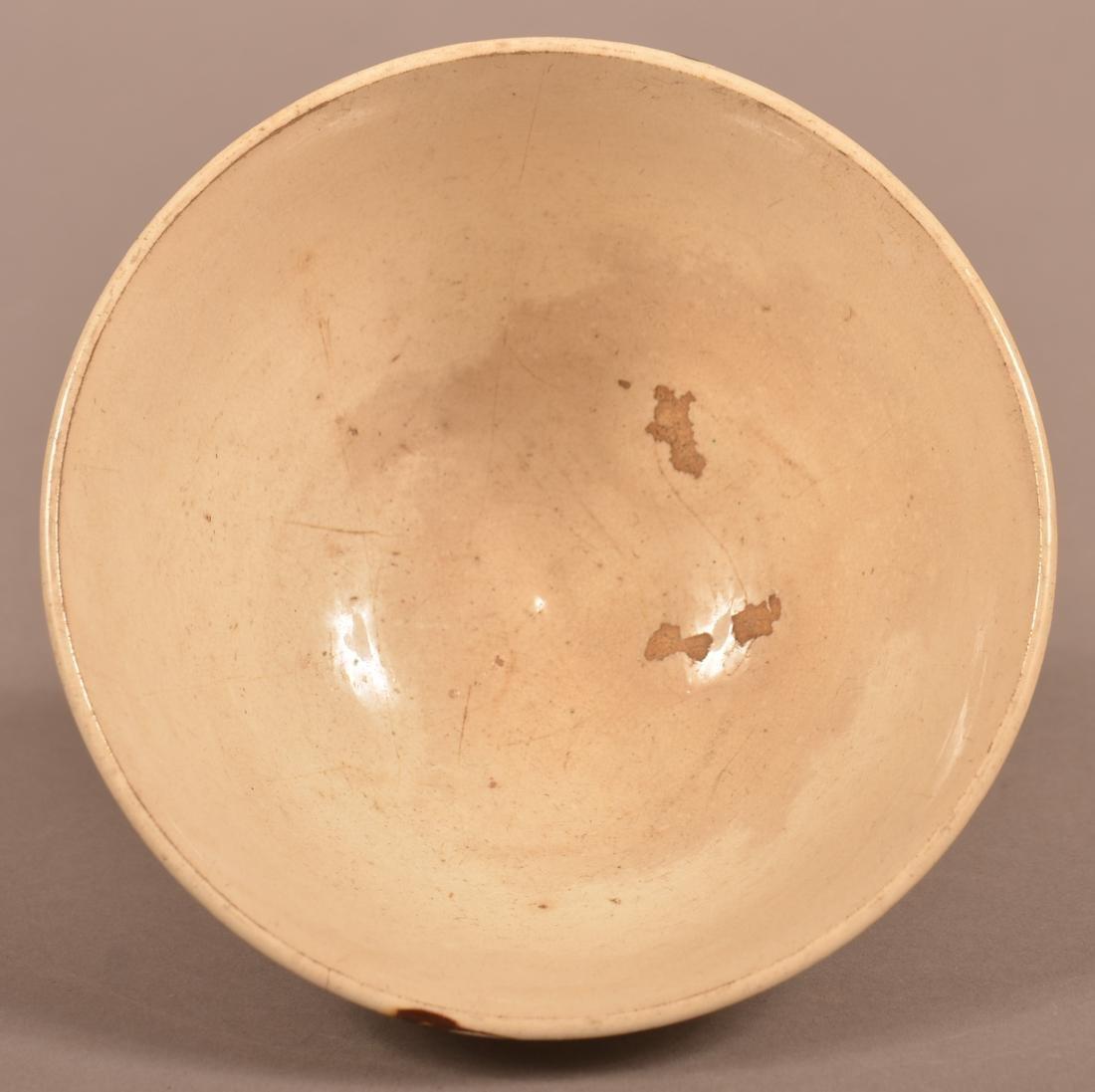 Mocha Earthworm Decorated China Bowl. - 3