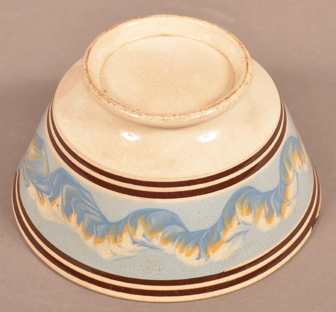 Mocha Earthworm Decorated China Bowl. - 4