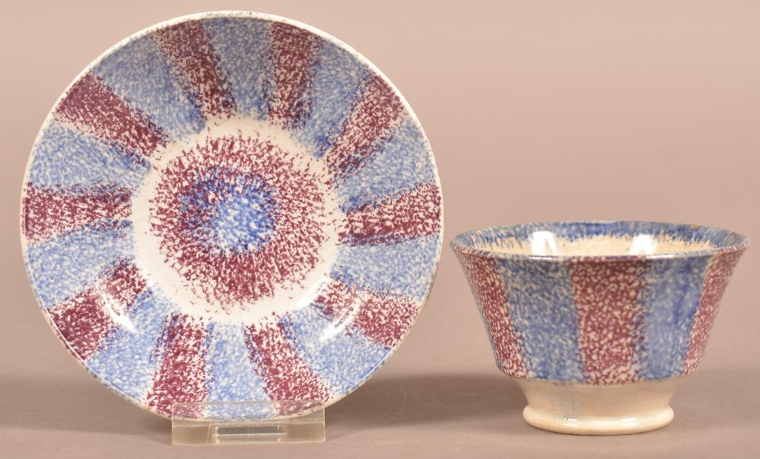 Purple & Blue Rainbow Spatter China Child's Cup &