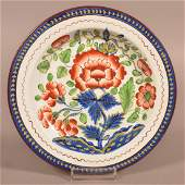 Gaudy Dutch China Carnation Pattern 712 Plate