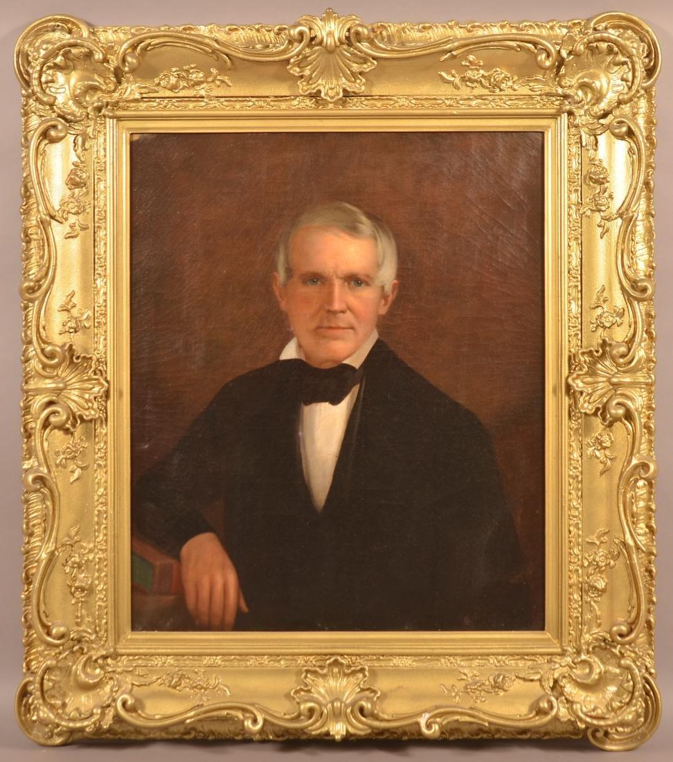 19th Century Oil on Canvas Portrait of a Gentleman.