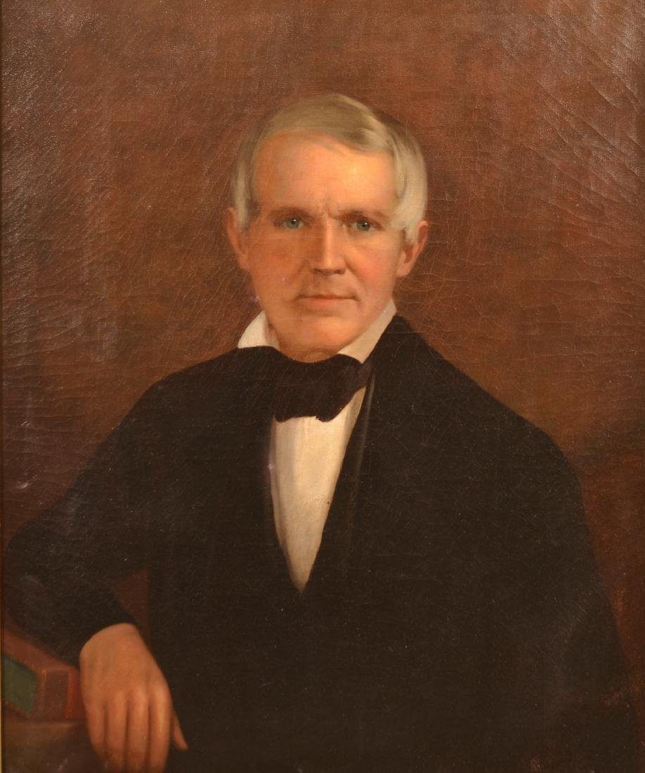 19th Century Oil on Canvas Portrait of a Gentleman. - 2