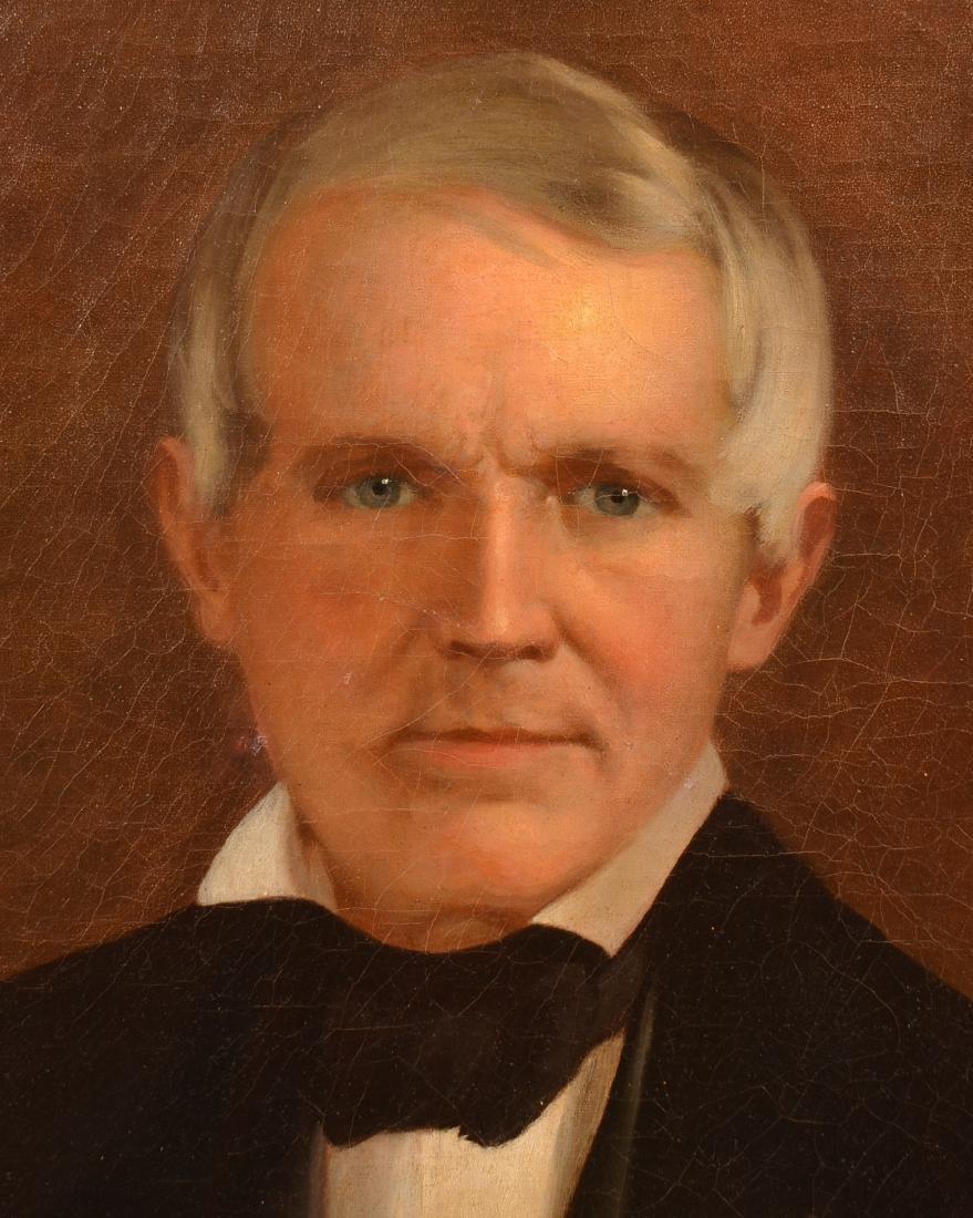19th Century Oil on Canvas Portrait of a Gentleman. - 3
