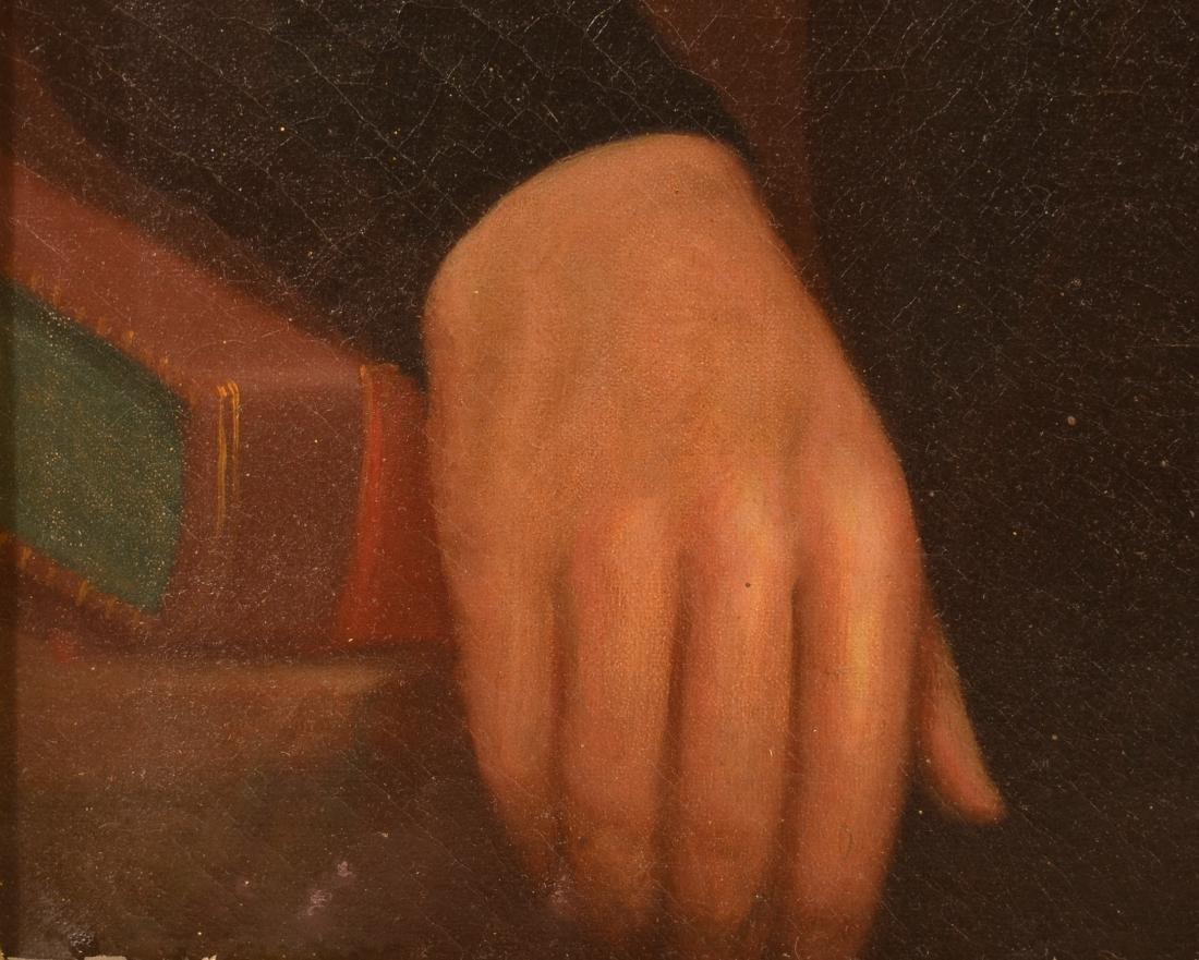 19th Century Oil on Canvas Portrait of a Gentleman. - 4