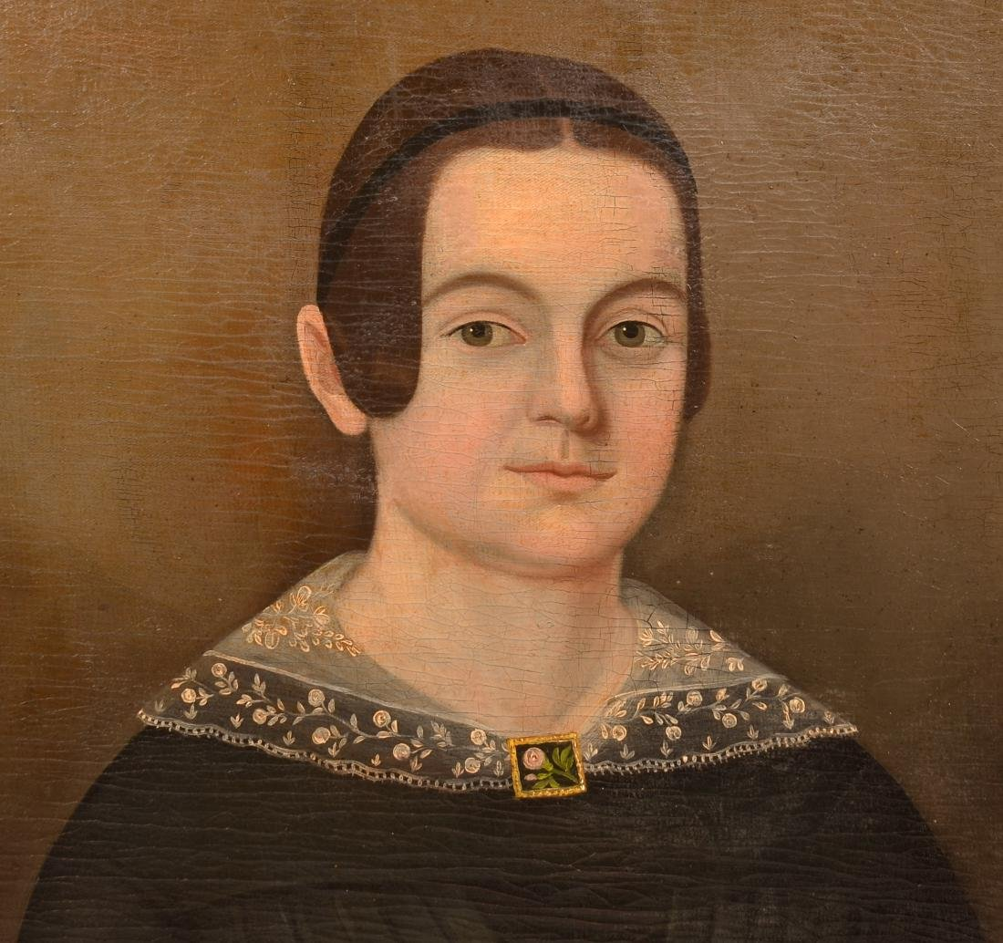 19th Century Oil Portrait Painting of a Young Woman. - 2