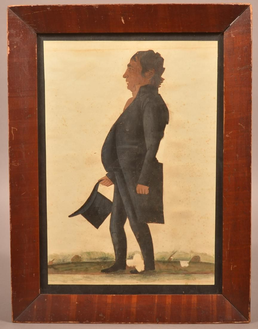 Early 19th Century Watercolor Drawing of Gentleman.
