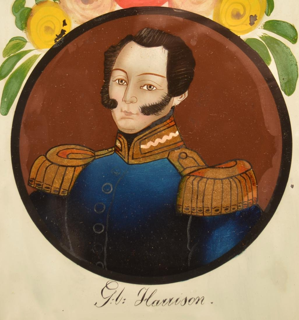 Reverse Painting on Glass of Admiral G.L. Harrison. - 2