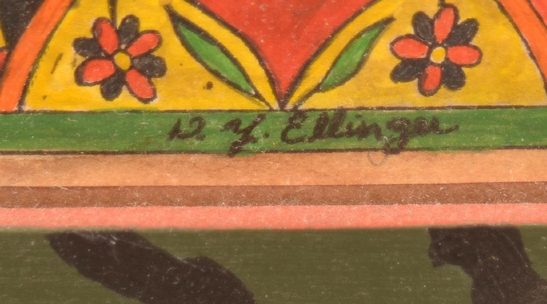 D. Y. Ellinger Watercolor on Paper of a Bird. - 3