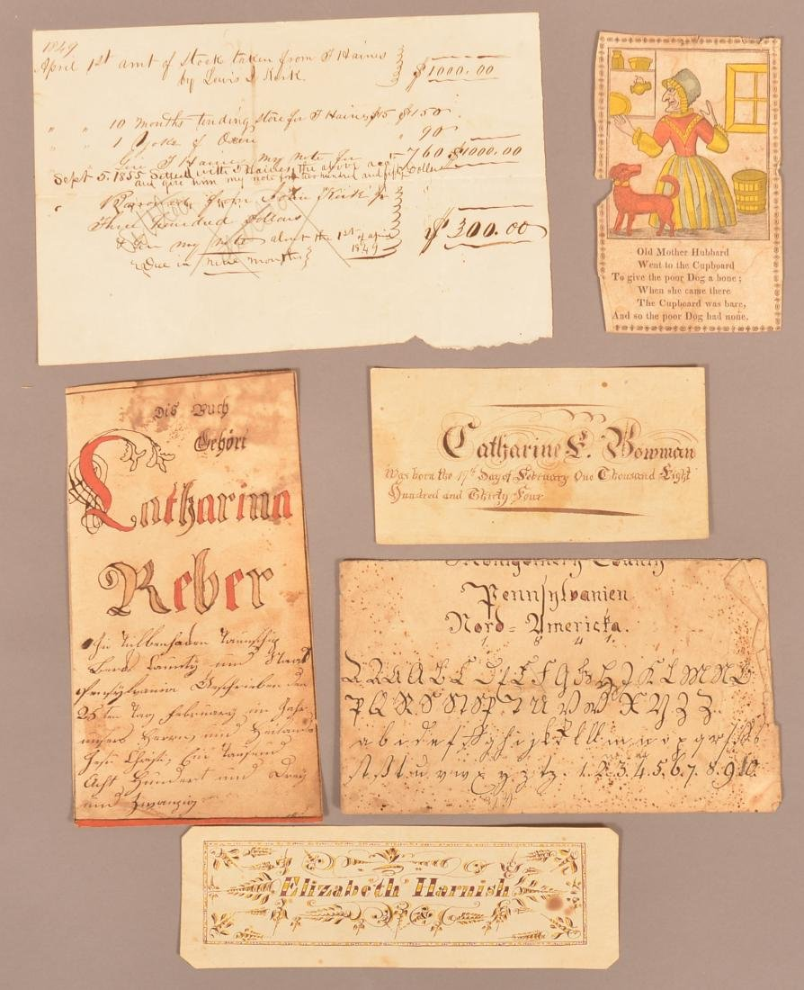 Lot of Six Various Early to Mid 19th Century PA