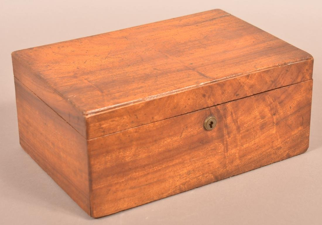 19th Century Mahogany Veneered Document Box.