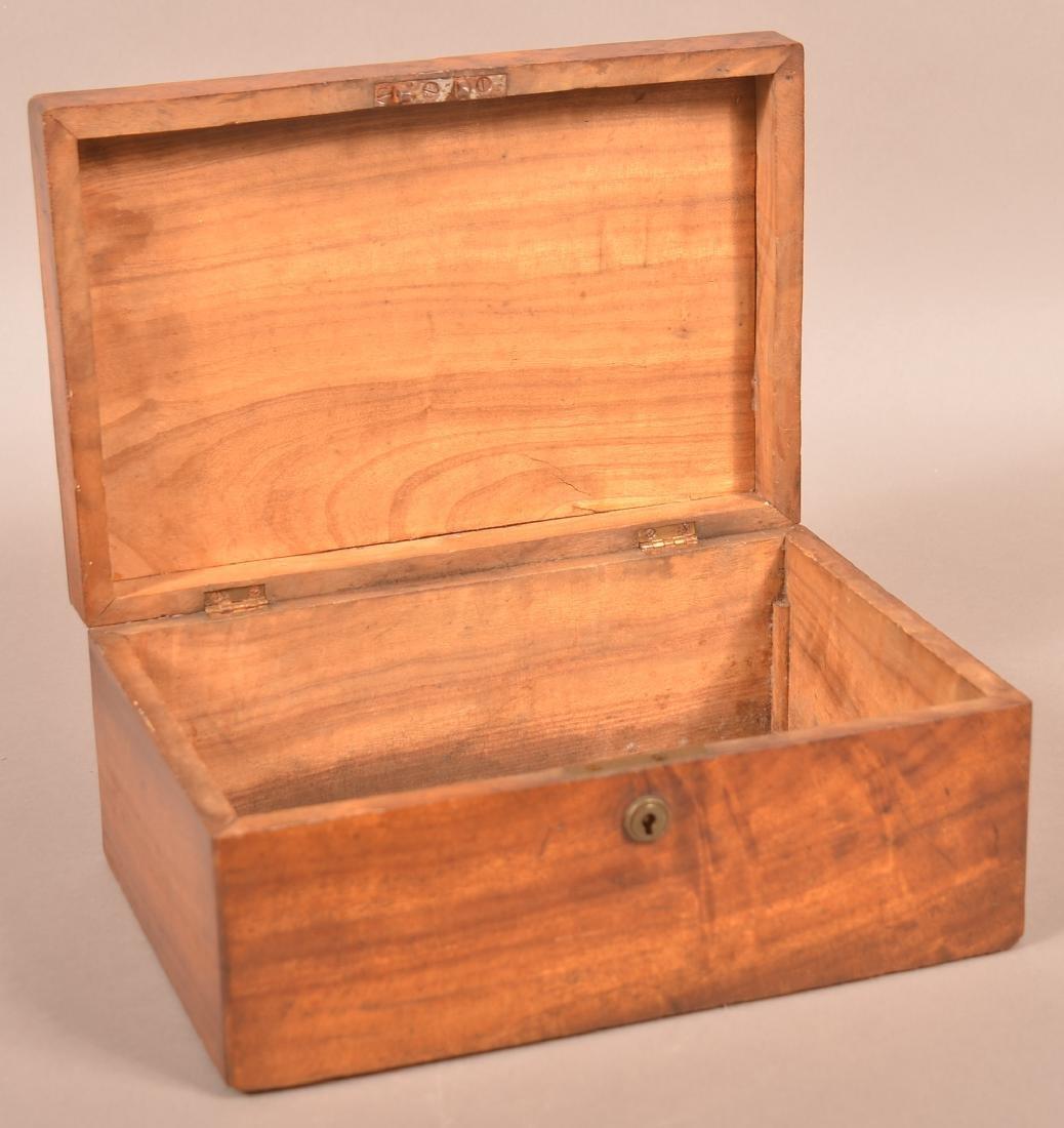 19th Century Mahogany Veneered Document Box. - 2