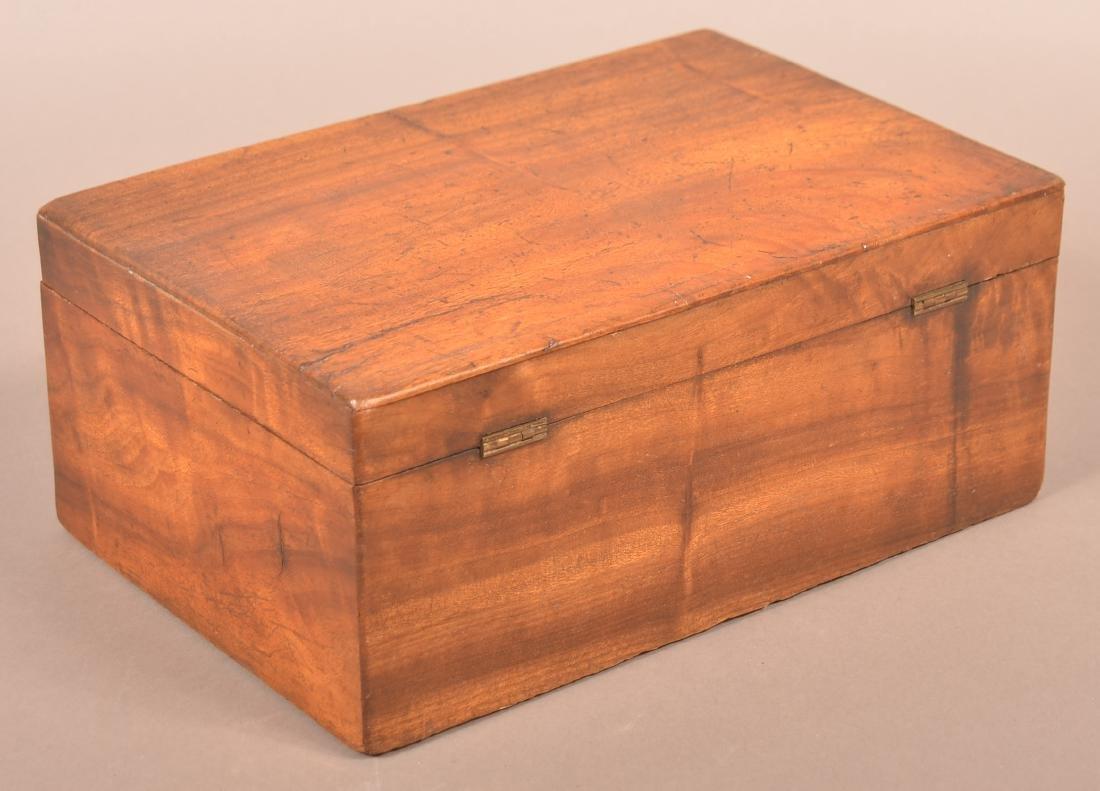 19th Century Mahogany Veneered Document Box. - 3