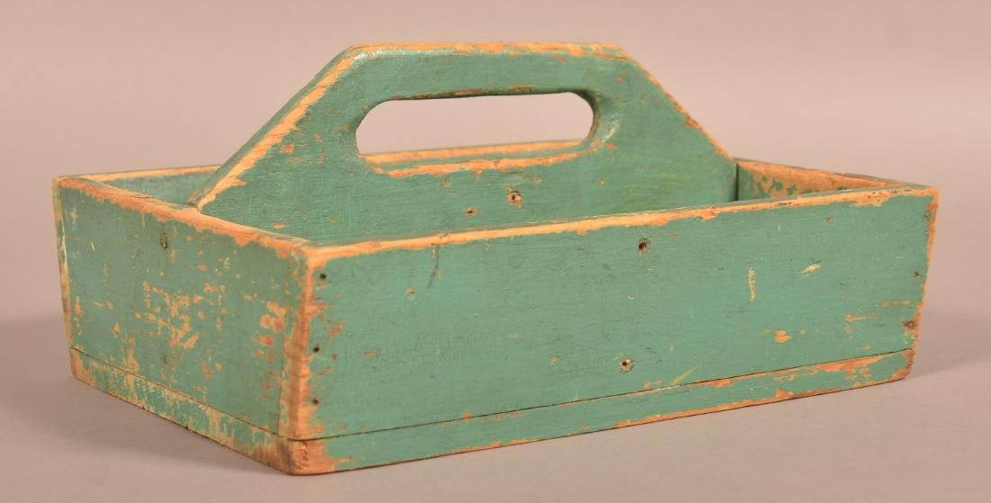 Softwood Utensil Carrier with Original Blue/Green