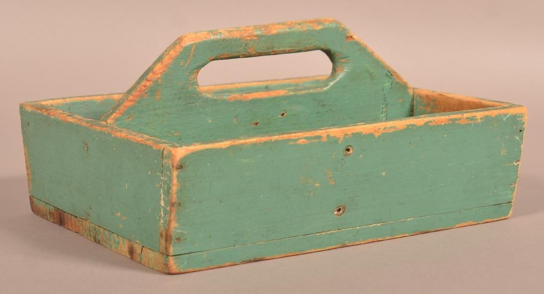 Softwood Utensil Carrier with Original Blue/Green - 2