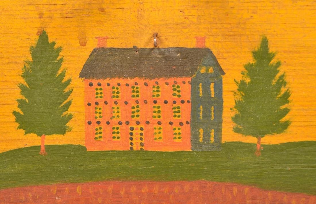 Extremely Fine Jonas Weber Painted Pine Trinket Box. - 2