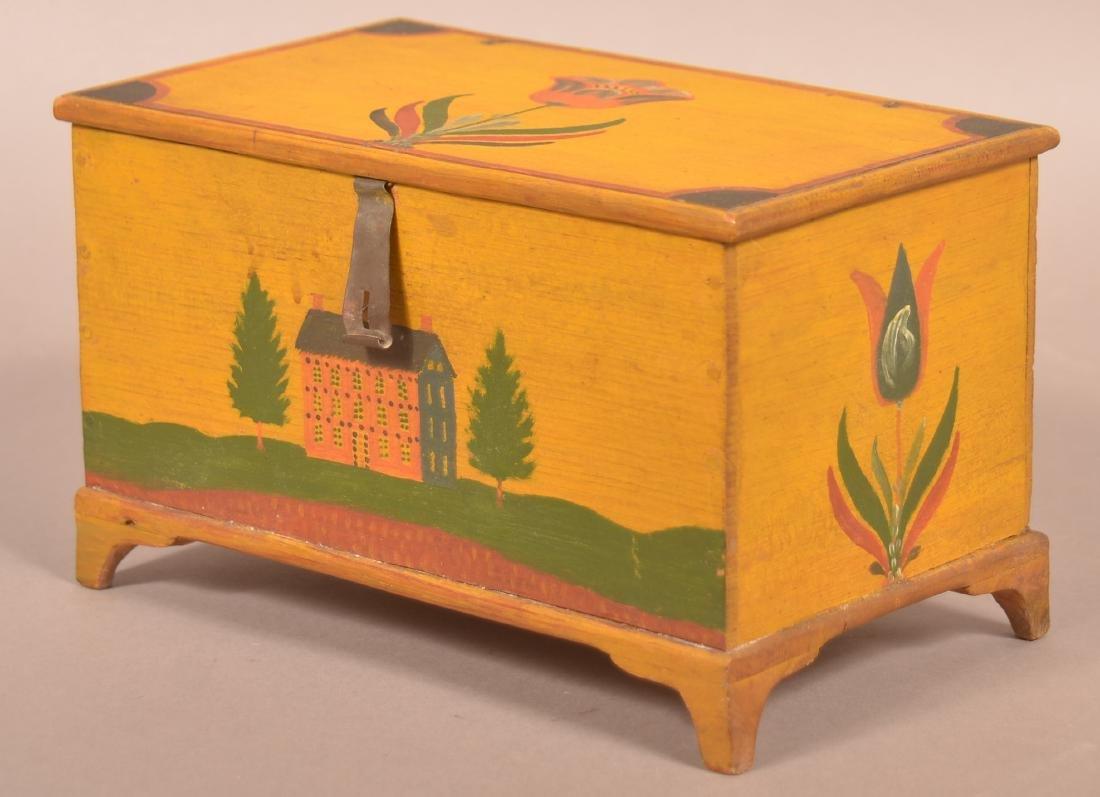 Extremely Fine Jonas Weber Painted Pine Trinket Box. - 3