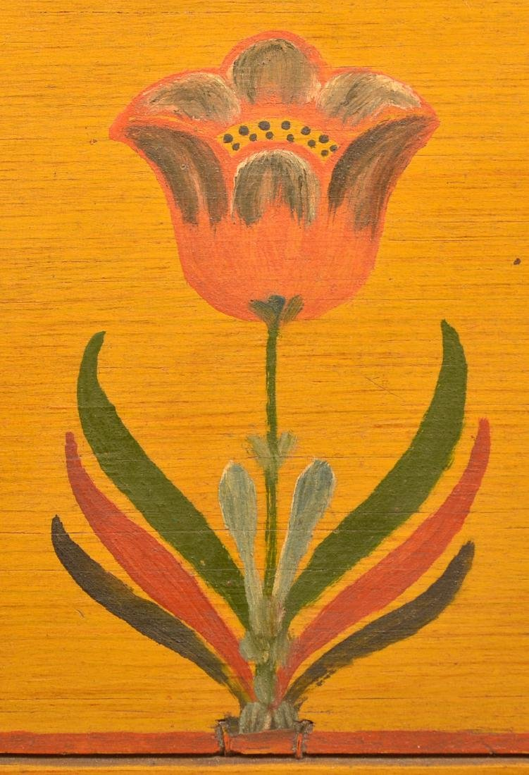 Extremely Fine Jonas Weber Painted Pine Trinket Box. - 4
