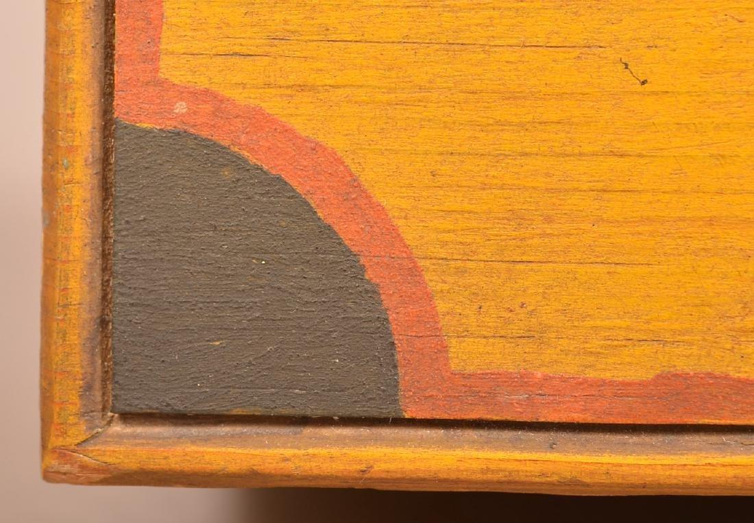 Extremely Fine Jonas Weber Painted Pine Trinket Box. - 5