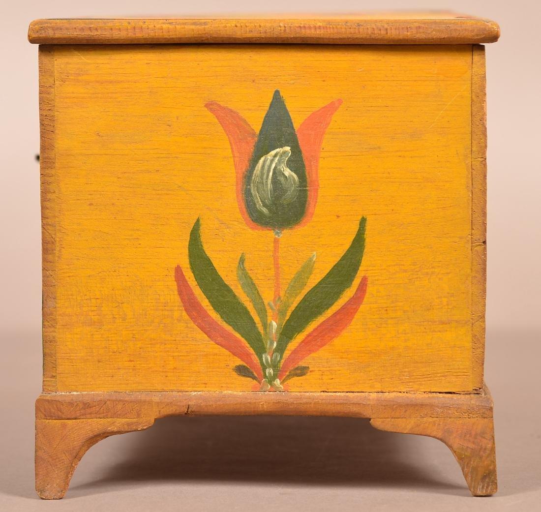 Extremely Fine Jonas Weber Painted Pine Trinket Box. - 6