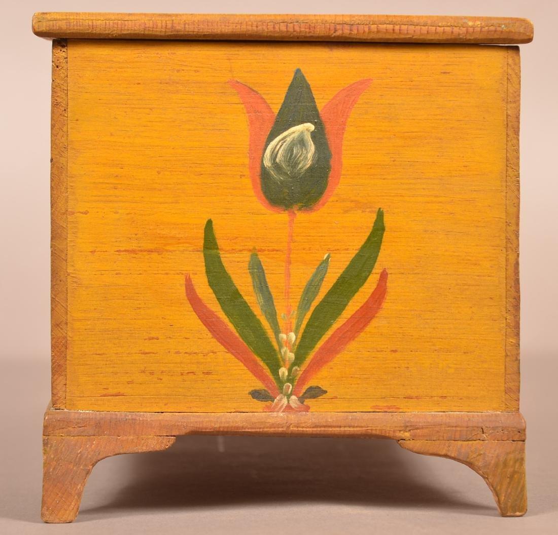 Extremely Fine Jonas Weber Painted Pine Trinket Box. - 7