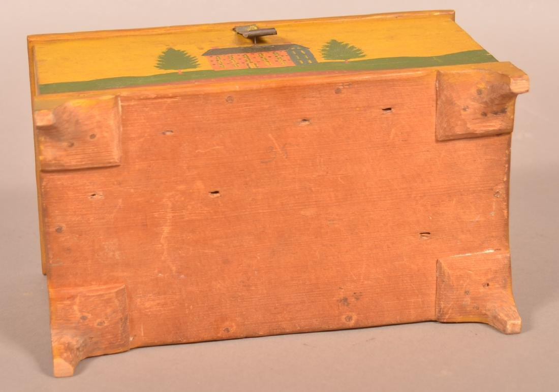 Extremely Fine Jonas Weber Painted Pine Trinket Box. - 8