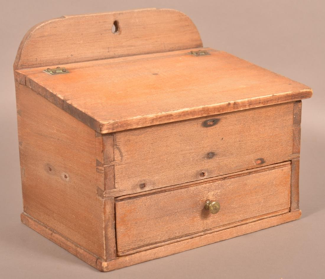 Pennsylvania 19th Century Softwood Hanging Salt Box.