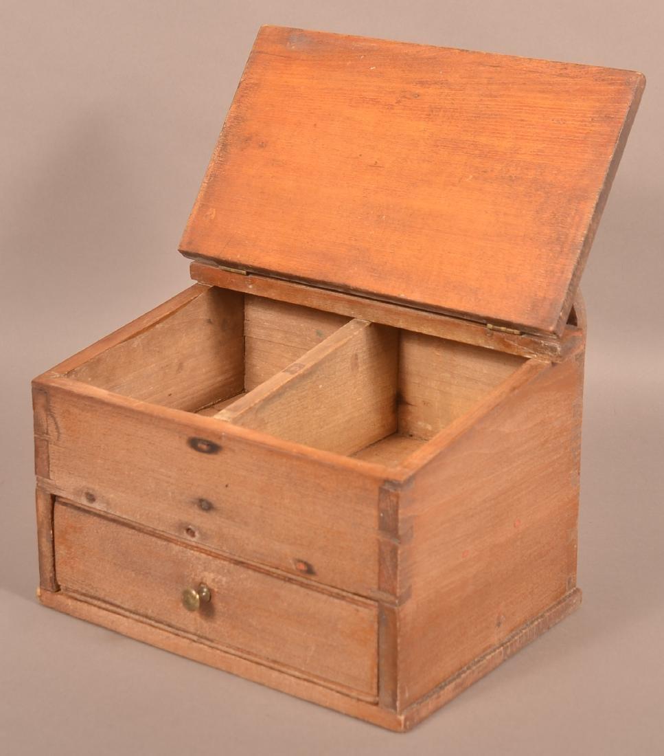 Pennsylvania 19th Century Softwood Hanging Salt Box. - 3